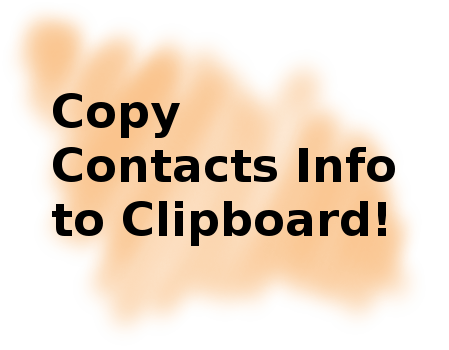 Copy contacts info to clipboard!